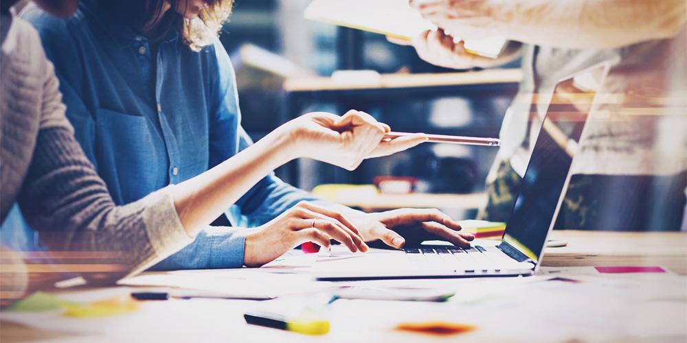 Creative team at work. Digital marketing, digital agency