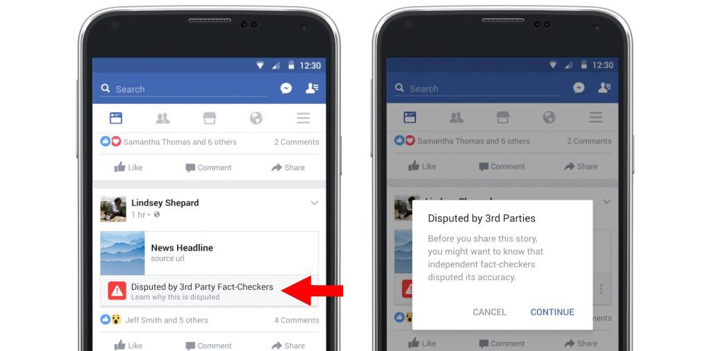Facebook fact check, social media, fake news